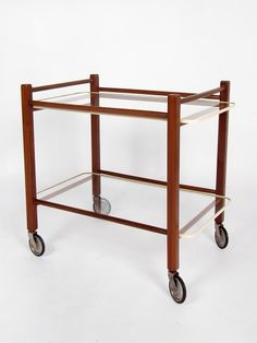We ship worldwide! Very beautiful but simple trolley by Cees Braakman for Pastoe - #midcentury Dutch Design