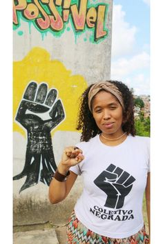 """Mirits is a 31-year-old organizer with the Colectivo Negrada group from Espírito Santo. She traveled more than 500 miles to march in Salvador:   """"The police are murdering a lot of Black women along with men. In my state of Espírito Santo, the police are occupying spaces of Black communities in the name of security, and they are terrorizing people. It's clearly become a matter of genocide for Black people in Brazil.   """"Women are the soul of this movement; we must band together as sisters of…"""