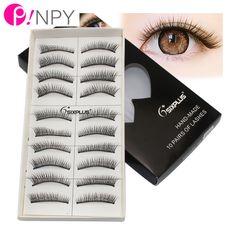 10Pairs/Lot Natural Long False Eyelashes Fake Eye Lashes Voluminous Makeup Set Eye Lashes Extension Tools