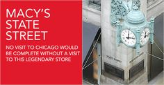 Macy's - Formerly Marshall Fields historical clock on State Street