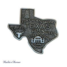 The whole state of Texas, in this vintage style medallion, for use in creating a special gift. Texas Gifts, Texas Forever, Lone Star State, Fort Worth Texas, Stars At Night, Dallas Texas, T 4, Art Music, Special Gifts