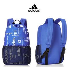 Adidas AOP Five Pockets Backpack   Blue   Click for More Adidas Backpack  Ideas! Adidas eb14824f9f