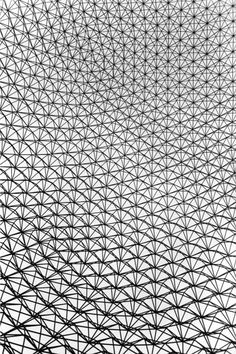 very large geodesic dome as the US pavilion at the Montreal Expo. Invented by R Buckminster Fuller, the geodesic dome becomes lighter and stronger as it's size (and volume) increases! (1967)