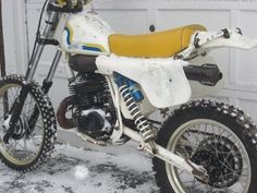 1983 Husqvarna 430XC, bought it from a friend, we both though it was a 250, til i rode it, ice tires,