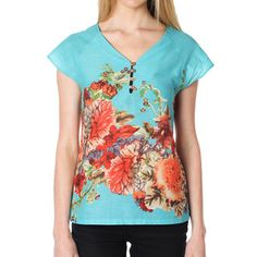 Glee Top Aqua, $35, now featured on Fab.