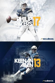 """After a season marred by disappointment on and off the field for the San Diego Chargers, uncertainty loomed in """"Recharged + Charge On"""" reestablishes what the team means to the city and deepens its roots by hearkening back to an exciting hist… Sports Advertising, Sports Marketing, Sports Graphic Design, Sport Design, Gfx Design, Flyer Design, Sport Inspiration, Sports Graphics, Design Poster"""