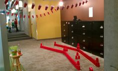 Mini golf hole red solo cup theme-- or blocks  Abi's birthday in the rain, here we come!
