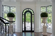 Georgian Style Home Entry Foyer & Custom Door Modern Georgian, Georgian Style Homes, Georgian Interiors, Door Paint Colors, Entry Way Design, English House, Entry Foyer, Home Photo, Beautiful Interiors