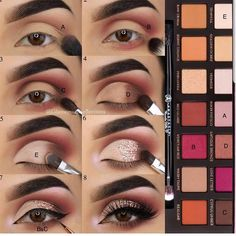 Eye Make-up - Look at another tutorial of eyes for us to train ! Eye Make-up – Olha mais um tutorial de olhos para a gente treinar! E aí gosta… Eye Make-up – Look at another tutorial of eyes for us to train ! Cute Makeup, Glam Makeup, Skin Makeup, Makeup Inspo, Eyeshadow Makeup, Makeup Inspiration, Beauty Makeup, Eyeshadow Tips, Eyeshadows