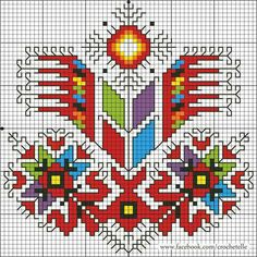 Cross Stitch Borders, Modern Cross Stitch Patterns, Cross Stitch Charts, Cross Stitching, Folk Embroidery, Cross Stitch Embroidery, Embroidery Patterns, Loom Patterns, Knitting Patterns
