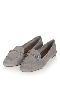 Borrow from the boys with these suede leather loafers. An on-trend androgynous style, these easy slip-ons are totally wearable with a metal trim detailing, and perfect styled back with tailored trousers. #Topshop