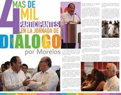 Mas de 4 mil participantes en la jornada de diálogo por Morelos.