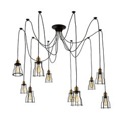 LNC Artistic Chandeliers 10 Lights Design Home Ceiling Light Fixture Flush Mount(Bulbs not Included)