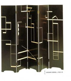 Laquer Screen - Eileen Gray art deco my fav!!