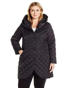 67c4ddf8864 Shop a great selection of Lark   Ro Women s Plus Size Quilted Shawl Collar  Tulip Jacket Hood. Find new offer and Similar products for Lark   Ro Women s  Plus ...