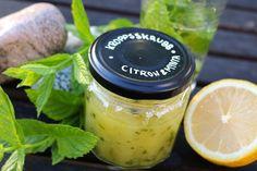 Hemgjord kroppsskrubb - citron/mynta - DIY Sweden
