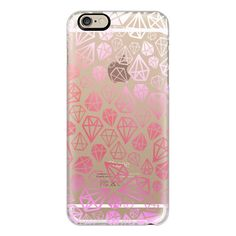 iPhone 6 Plus/6/5/5s/5c Case - Pink Diamonds | Geometric girly boho... (255 VEF) ❤ liked on Polyvore featuring accessories, tech accessories and iphone case