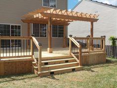 Cedar Deck & Pergola - Picture 3637 - Decks.com