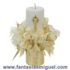 Como Hacer Manualidades - Ideas - Fantasias Miguel First Communion Cards, First Holy Communion, Communion Decorations, Candle Centerpieces, Bottle Crafts, Diy And Crafts, Baptisms, Google, Party