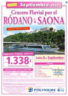 Crucero Fluvial por el RODANO y el Saona p.f. dsd 1.338E (8d/7n), sal. 8 de…
