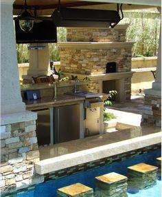 pool bar in backyard