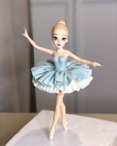 Ballet Cakes, Ballerina Cakes, Ballerina Birthday Parties, Ballerina Party, Birthday Cake, Polymer Clay Disney, Polymer Clay Crafts, Owl Cake Pops, Fondant Wedding Cakes