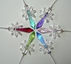 CHOOSE YOUR COLOR Swarovski Crystal by HeartstringsByMorgan, $23.00. (40mm Strass in all of these colors.)