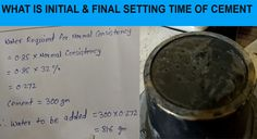 How to find out initial and final setting time of cement