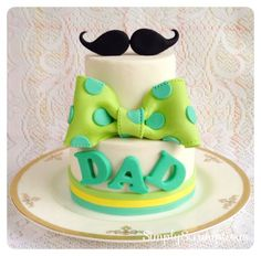 Moustache & Bow Tie Father's Day Cake