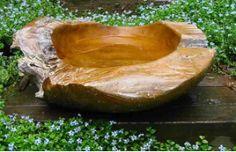 More Teak Birdbaths - Yay! Natural Teak Ground Bird Bath-Small or Large