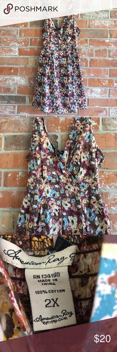 """Beautiful Dress/Tunic By American Rag 1X This dress is in EUC. No rips stains or tears. It measures 21"""" underarm to underarm laying flat. Waist measures 18"""" laying flat . It is 36"""" long. Get this one while you can💕💕😘 American Rag Dresses Midi"""