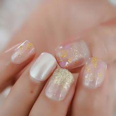 Short Round Pearl Shimmer Glitter Faux Nails – Fake Nail Store Rounded Nails, Nail Store, Nail Length, Salon Services, Nail Set, Short Nails, Nail Tips, Manicure, Nail Polish