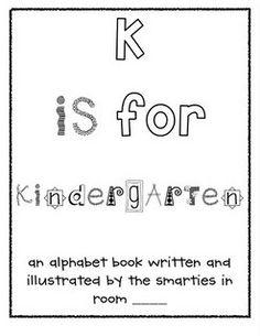 K is for Kindergarten class book