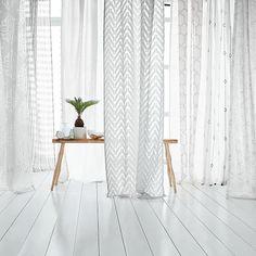 Mid-Century Sheer Plaid Curtain | west elm