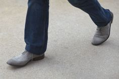 Note to self: wear gray suede wingtips with jeans more often.