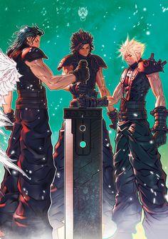 Final Fantasy Crisis Core, Final Fantasy Cloud, Final Fantasy Characters, Final Fantasy Artwork, Final Fantasy Vii Remake, Fantasy Series, Final Fantasy Anime, Fantasy Pictures, Cloud Strife