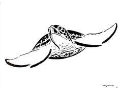 Turtle Sumi-e Art by Wyland - Sea Turtle Sketch Wyland Art, Turtle Sketch, Disney Lines, Beach Illustration, Turtle Painting, Muse Art, Ocean Art, Marine Life, Sea Creatures