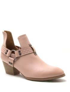 Qupid Travis Harness Ankle Booties