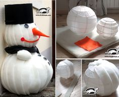 A big snowman for decoration