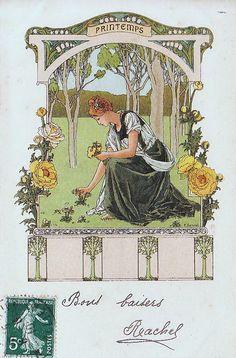 Printemps by Elisabeth Sonrel (1874 - 1953)