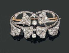 Lalique diamond brooch, 1890.