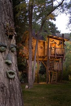 Tremendous Shelter And Roof Playground Great Wooden Tree House With ...