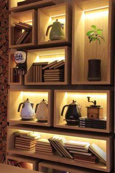 Bookshelves Decorating Ideas for Living Wall Showcase Design, Beautiful Home Gardens, Room Partition Designs, Interior Minimalista, Bookshelf Design, Industrial Shelving, Modern Interior Design, Home And Living, Living Room