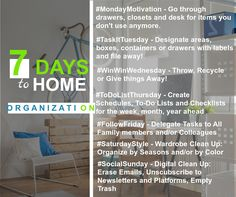 7 Day Organization Tips