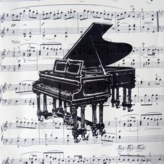 upcycled vintage sheet music print. #music #blackandwhite #piano http://www.pinterest.com/TheHitman14/black-and-white/