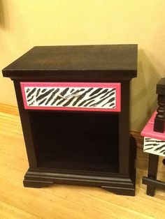 Zebra night stand