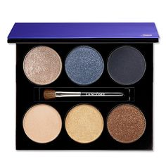 Metallic Beauty Products - Lancome French Riviera Azur chic eyeshadow palette from #InStyle