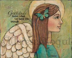 Gratitude 8x10 print by Teresa Kogut