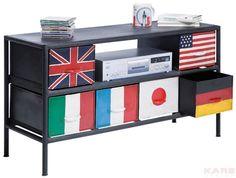 Folk Art Colourful Furniture By Kare Design U2013 TV Board Flags 6 Drawers 02 |