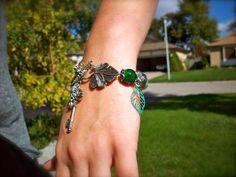 Secret Garden Inspired Charm Bracelet by dgowin on Etsy, $50.00 (SOLD)